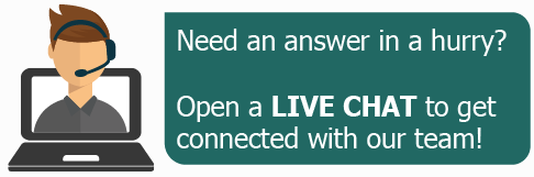 Live Chat with our support team!